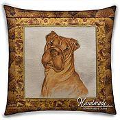 "handmade. Livemaster - original item ""Sharpay dog"" Decorative pillow with a portrait by the photo. Handmade."