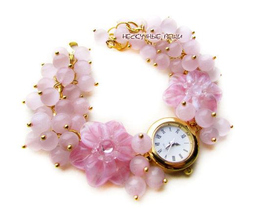 """Часы ручной работы. Ярмарка Мастеров - ручная работа. Купить """"Фруктовый лёд"""" часы с бусинами лэмпворк. Handmade. Часы"""