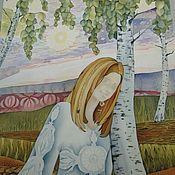 Картины и панно ручной работы. Ярмарка Мастеров - ручная работа Батик Панно На рассвете. Handmade.