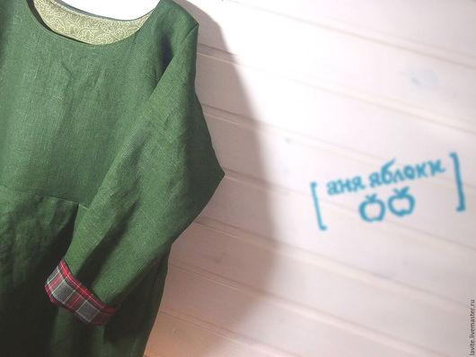 Платья ручной работы. Ярмарка Мастеров - ручная работа. Купить самое зелёное платье. Handmade. Тёмно-зелёный, платье на заказ
