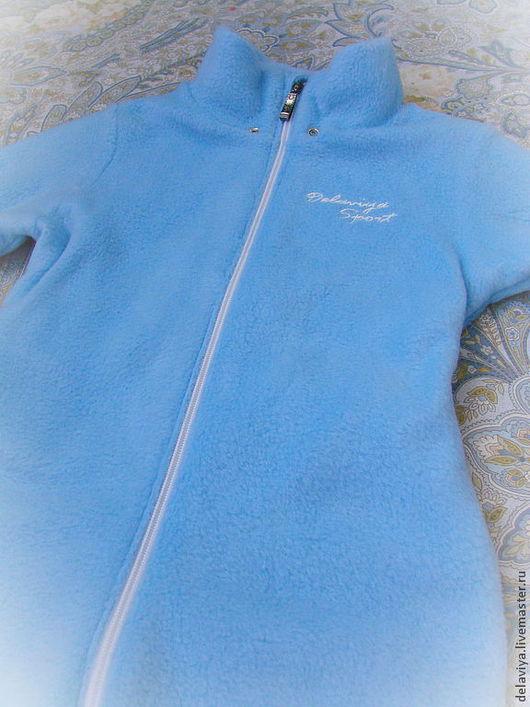 """Одежда для мальчиков, ручной работы. Ярмарка Мастеров - ручная работа. Купить Флисовый комбинезон-поддева """"Sport"""" от Делавьи. Handmade. Голубой"""