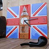 """Для дома и интерьера ручной работы. Ярмарка Мастеров - ручная работа Часы """"Биг-Бен"""" фьюзинг. Handmade."""