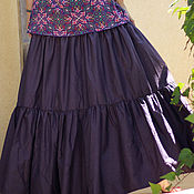 Одежда ручной работы. Ярмарка Мастеров - ручная работа Юбка макси фиолетовая. Handmade.