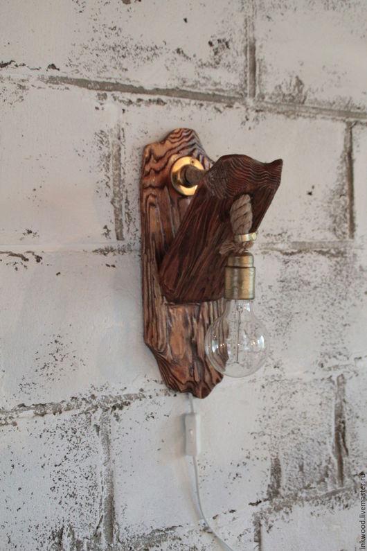 Освещение ручной работы. Ярмарка Мастеров - ручная работа. Купить Ночник, светильник. Handmade. Коричневый, дерево