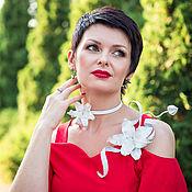 Украшения handmade. Livemaster - original item Jewelry sets: White Lily. Handmade.