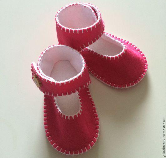 Обувь ручной работы. Ярмарка Мастеров - ручная работа. Купить Пинетки-туфельки из фетра. Handmade. Пинетки, пинетки в подарок