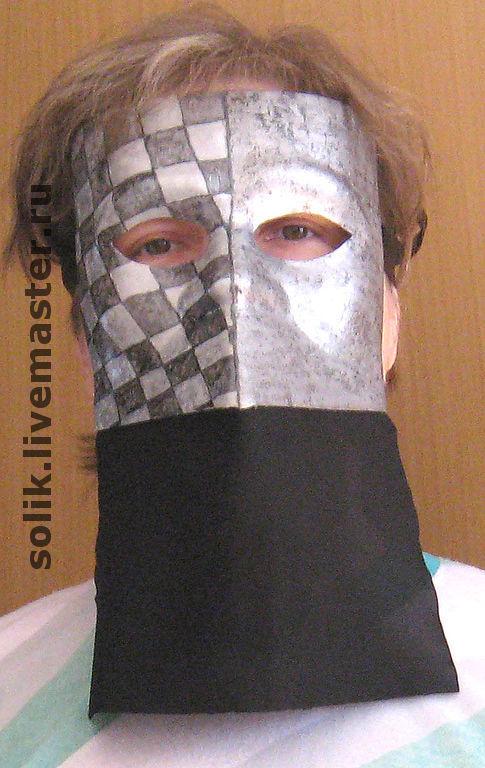 """Подарки для мужчин, ручной работы. Ярмарка Мастеров - ручная работа. Купить Венецианская маска """"Баута - сталь"""". Handmade. Венецианская маска"""