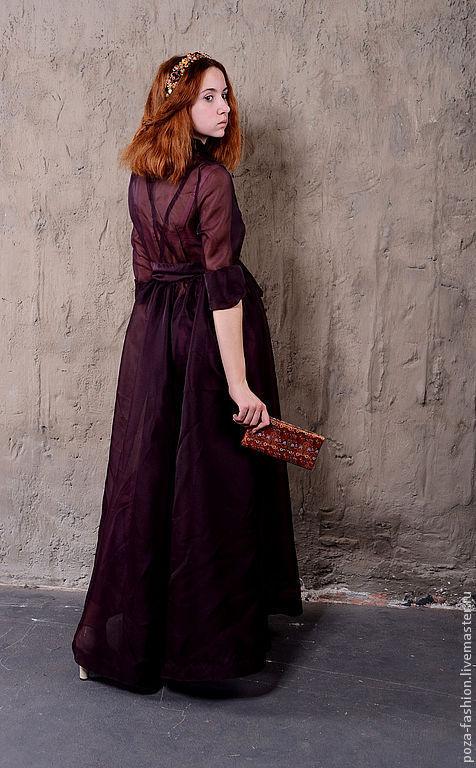 """Платья ручной работы. Ярмарка Мастеров - ручная работа. Купить Платье """" Вечер"""". Handmade. Тёмно-фиолетовый, вечернее платье"""