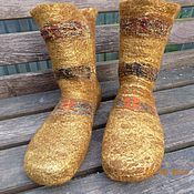 """Обувь ручной работы. Ярмарка Мастеров - ручная работа Носки """"Золотая осень"""". Handmade."""