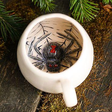 Посуда ручной работы. Ярмарка Мастеров - ручная работа Кружки: Секретная паучина. Handmade.