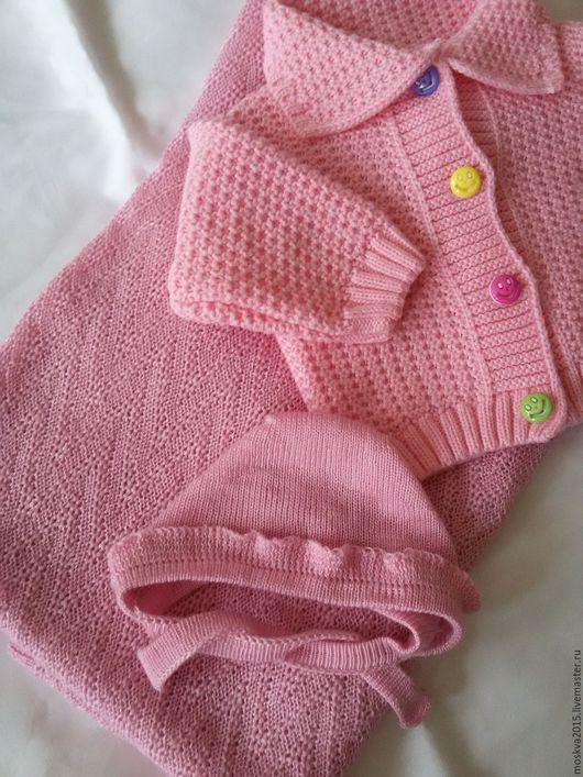 Пледы и одеяла ручной работы. Ярмарка Мастеров - ручная работа. Купить Детские пледы. Handmade. Розовый, вязание пледов