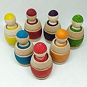 Куклы и игрушки handmade. Livemaster - original item Playsets: Semicvetik: first shape sorter for toddlers. Handmade.