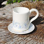 """Посуда ручной работы. Ярмарка Мастеров - ручная работа Чайная пара """"Метелица"""". Handmade."""