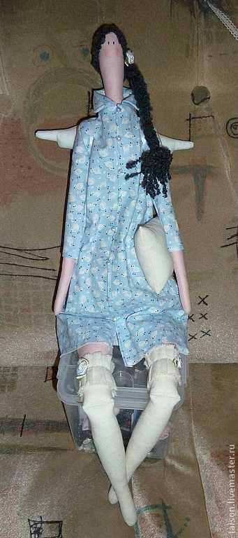 Куклы Тильды ручной работы. Ярмарка Мастеров - ручная работа. Купить Ангел снов. Handmade. Голубой, ангел сна, хлопок
