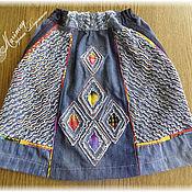Работы для детей, ручной работы. Ярмарка Мастеров - ручная работа Юбка из джинсы. Handmade.