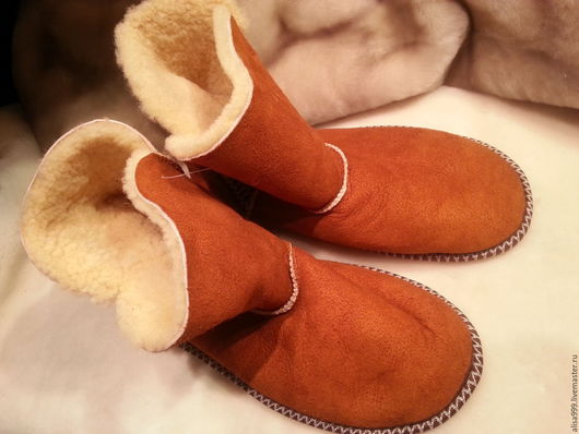 Обувь ручной работы. Ярмарка Мастеров - ручная работа. Купить Домашние угги для взрослых из овчины. Handmade. Домашние угги
