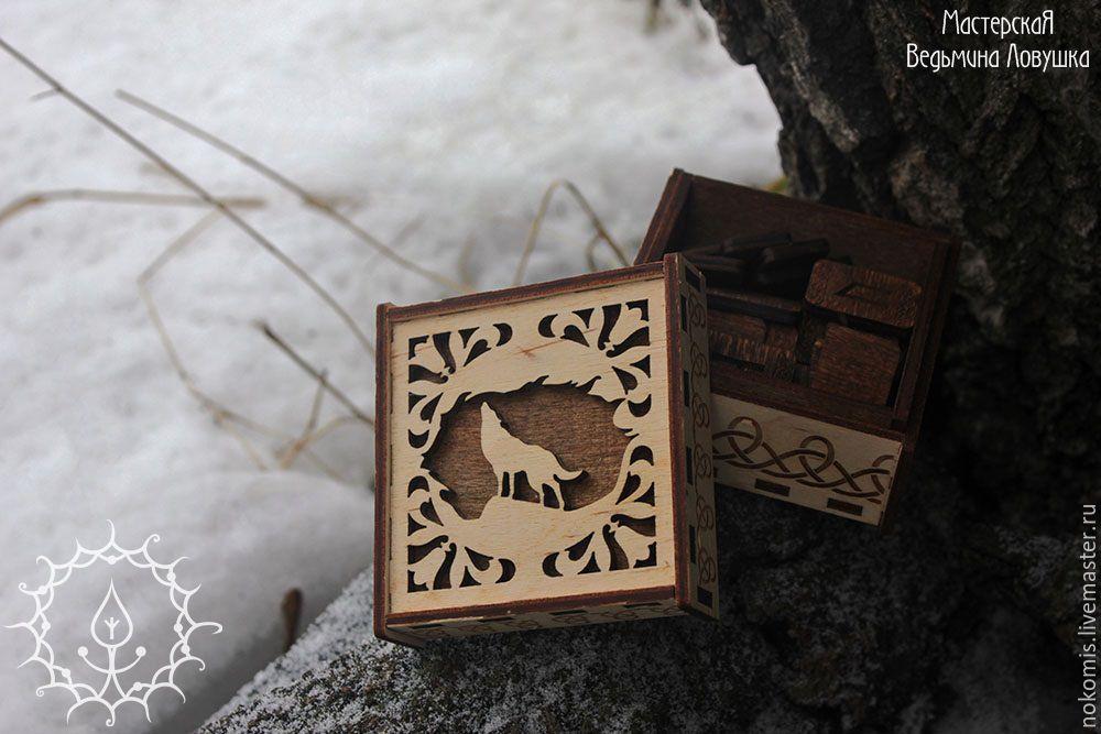 """Гадания ручной работы. Ярмарка Мастеров - ручная работа. Купить Набор рун """"Волк"""". Handmade. Волк, волки, тотемное животное"""