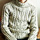 """Для мужчин, ручной работы. Ярмарка Мастеров - ручная работа. Купить Теплый свитер """"Марко"""". Handmade. Вязание на заказ, серый"""