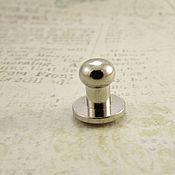 Кнопки ручной работы. Ярмарка Мастеров - ручная работа Кобурная кнопка 7058 никель 6мм. Handmade.