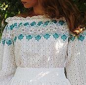 Одежда handmade. Livemaster - original item Elegant dress with lace, cotton-sewing.. Handmade.