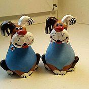 Колокольчики ручной работы. Ярмарка Мастеров - ручная работа Собака фигурка. Handmade.