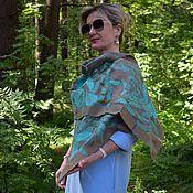Аксессуары handmade. Livemaster - original item Felted scarf Himalayan poppies, elegant silk accessory. Handmade.