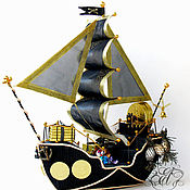 Цветы и флористика handmade. Livemaster - original item Pirate ship. Handmade.