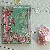 """Открытки ручной работы. Ярмарка Мастеров - ручная работа Открытка """"madame Butterfly"""". Handmade."""