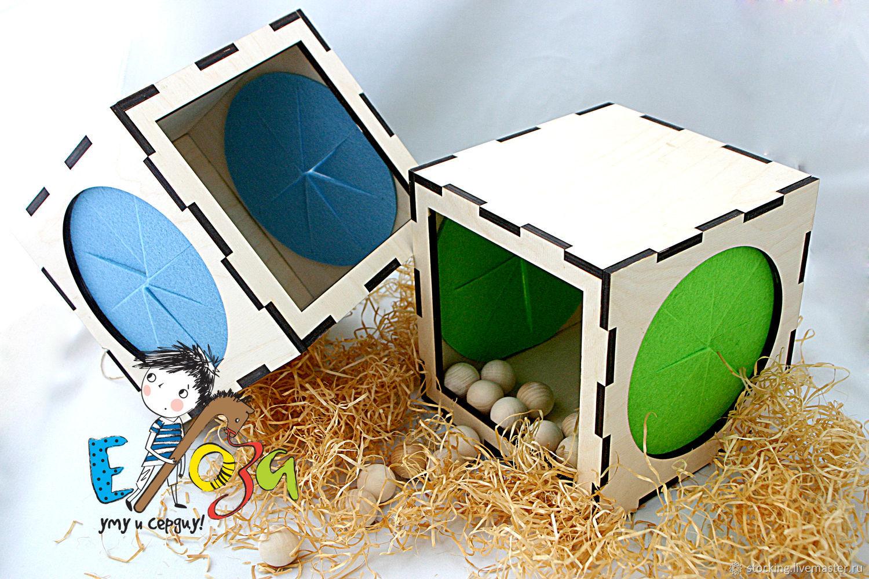 Развивающая игрушка Тактильный Куб, Мягкие игрушки, Обнинск,  Фото №1