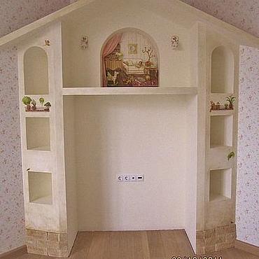 Для дома и интерьера ручной работы. Ярмарка Мастеров - ручная работа роспись домика в детской. Handmade.