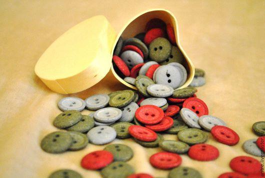 """Куклы и игрушки ручной работы. Ярмарка Мастеров - ручная работа. Купить Кукольные пуговки Набор """"Шапито"""" 15 мм.. Handmade."""