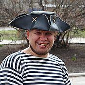 handmade. Livemaster - original item Jack Sparrow cocked hat (black). Handmade.