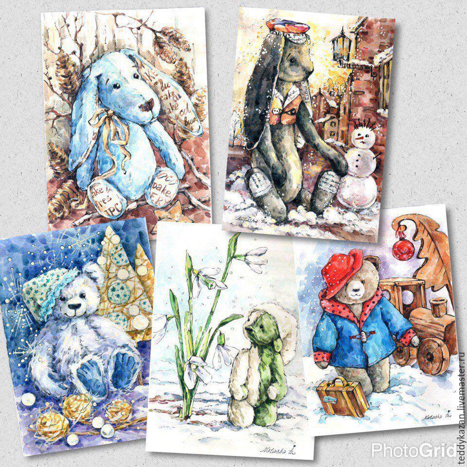 Почтовые открытки ручной работы