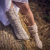 Аксессуары ручной работы. Ярмарка Мастеров - ручная работа Гольфы с косами в стиле Кантри. Handmade.