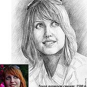 Картины и панно ручной работы. Ярмарка Мастеров - ручная работа Портрет графика, простой карандаш бумага. Handmade.