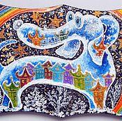 Картины и панно ручной работы. Ярмарка Мастеров - ручная работа Зимний пёс Работа акрилом на дереве. Handmade.