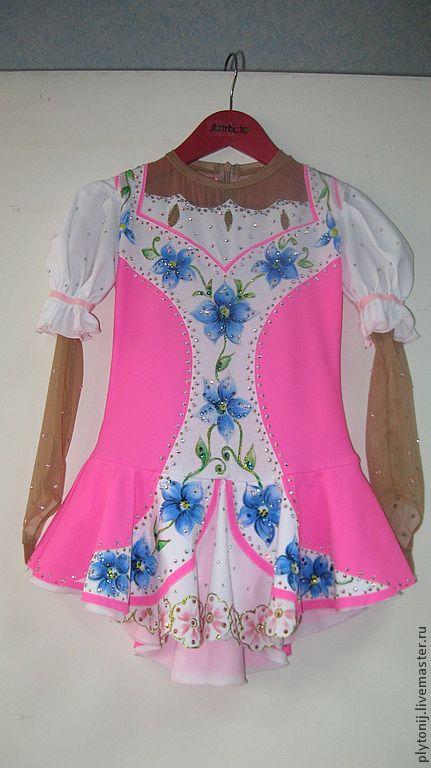 Спортивная одежда ручной работы. Ярмарка Мастеров - ручная работа. Купить Платье для фигурного катания на выступление. Handmade. Розовый, цветочный