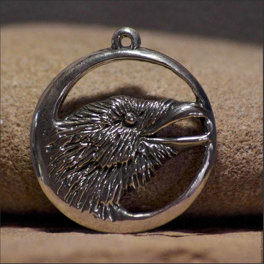 """Кулоны, подвески ручной работы. Ярмарка Мастеров - ручная работа. Купить Кулон """"Ворона"""". Handmade. Серебряный, ворона, ворон, кулон"""