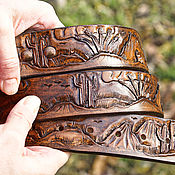 Straps handmade. Livemaster - original item Mens leather belt handmade. Handmade.