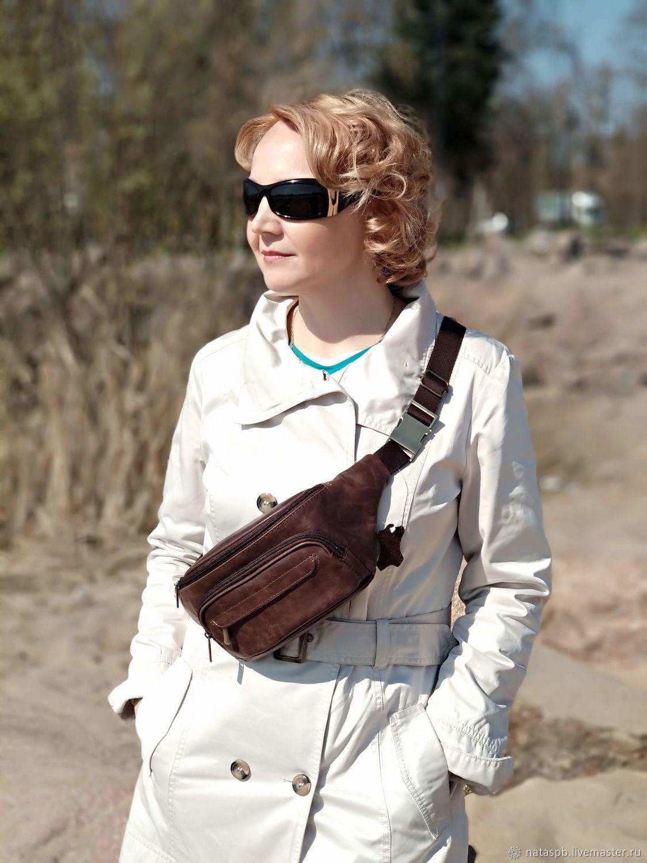 Waist bag leather brown Ceres Mod. C80-622, Waist Bag, St. Petersburg,  Фото №1
