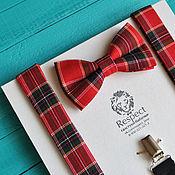 handmade. Livemaster - original item Tie the red from the tartan Braces Royal Stewart. Handmade.