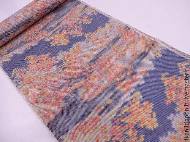 Japanese silk 'Orange summer', Fabric, Chelyabinsk,  Фото №1