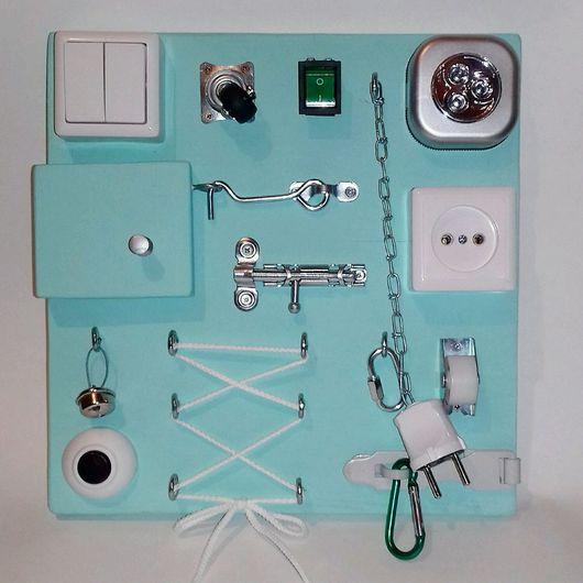 Развивающие игрушки ручной работы. Ярмарка Мастеров - ручная работа. Купить Доска с замочками, Бизиборд (Busyboard). Handmade. Бизиборд