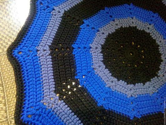 Текстиль, ковры ручной работы. Ярмарка Мастеров - ручная работа. Купить Коврик из шнура. Handmade. Тёмно-синий, коврик крючком