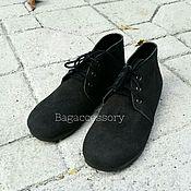 Ботинки ручной работы. Ярмарка Мастеров - ручная работа Ботинки из натуральной замши. Handmade.