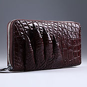 Сумки и аксессуары handmade. Livemaster - original item Crocodile leather zipper wallet IMA0035K6. Handmade.