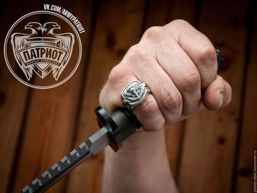 """Украшения для мужчин, ручной работы. Ярмарка Мастеров - ручная работа. Купить Перстень """"ВДВ"""". Handmade. Вдв, спецназ, перстень вдв"""