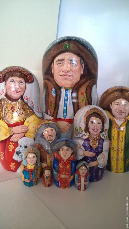 Матрешки ручной работы. Ярмарка Мастеров - ручная работа. Купить портрет на матрешке. Handmade. Комбинированный, портретная кукла, семейная реликвия