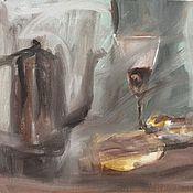Картины и панно ручной работы. Ярмарка Мастеров - ручная работа Вино и бублики. Handmade.