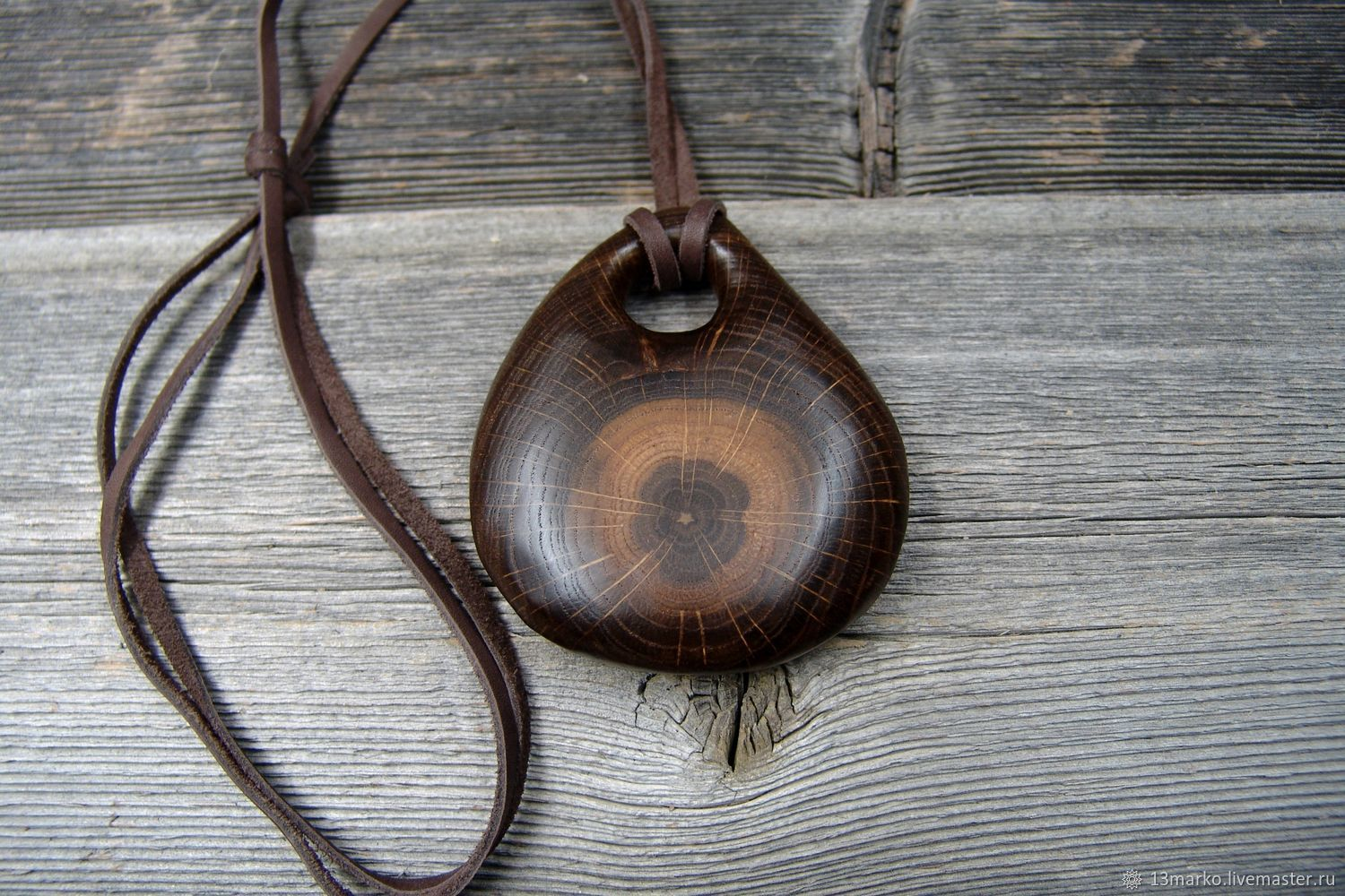The pendant is made of bog oak, Pendant, Moscow,  Фото №1